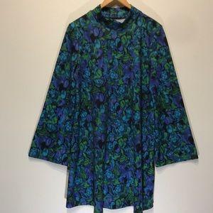 Zara Bell Sleeve Drop Waist A-Line Dress Sz 8